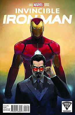 INVINCIBLE IRON MAN #1 (2015, Marvel) Alex Maleev Fried Pie Variant Cover, NM