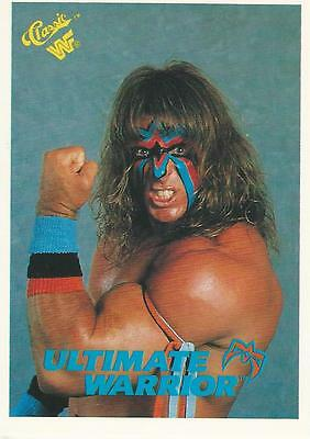 WWF WWE Classic Cards 1990 Trading Card 127 The Ultimate Warrior