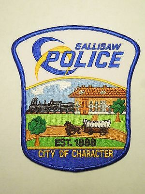 Vintage Sallisaw Oklahoma Police City of Character Train Station Image Patch