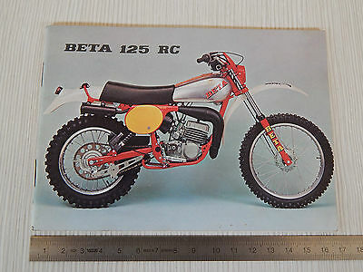 Manuale Uso Manutenzione Originale Beta 125 Rc 6300 Cross Motocross