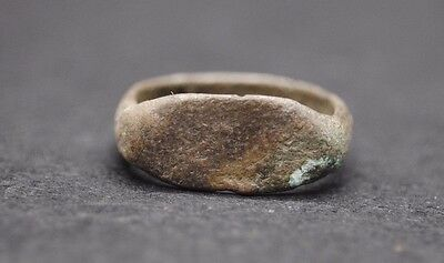 Ancient Greek Bronze Finger Ring 300 Bc.