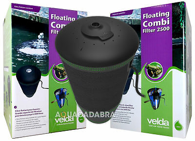 Velda Floating Combi Filter Fish Pond Filter Pump Uvc All In One System