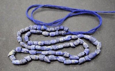 Ancient Egyptian Lapis Lazuli Bead Necklace