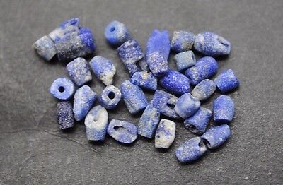 Collection Of Ancient Egyptian Lapis Lazuli Beads
