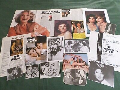 "Anne Bancroft - Film Star - ""Clippings /Cuttings Pack"""