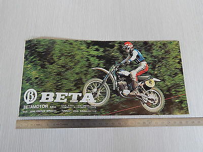 Depliant Originale Beta 50 Tr6 Trial Cr4 Camoscio C402 Cross Brochure