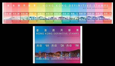 China Hong Kong 1997 Definitive stamps S/S Skyline