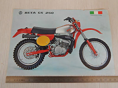 Depliant Originale Beta 250 Gs Cross Motocross Brochure