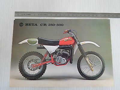 Depliant Originale Beta Cr 250 500 Cross Motocross Brochure