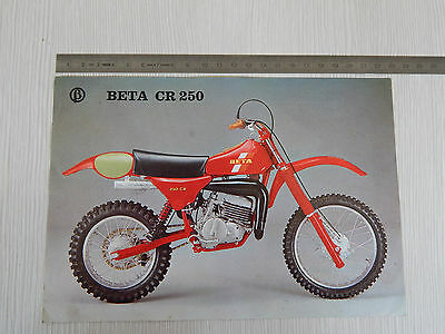 Depliant Originale Beta Cr 250 Cross Motocross Brochure