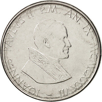 [#410413] VATICAN CITY, John Paul II, 50 Lire, 1987, Roma, MS(64), Stainless