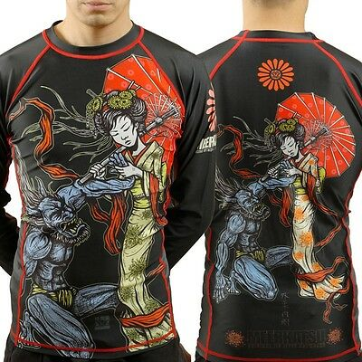 Meerkatsu Heavenly Wristlock Rash Guard - MMA BJJ Rashguard Compression - 5*