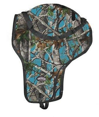 Showman TEAL REAL OAK CAMOUFLAGE Nylon Western Saddle Carrier!! NEW HORSE TACK!!
