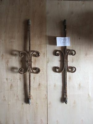 Antique Victorian Iron Gate Window Panel Fence Architectural Salvage #923