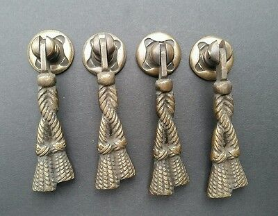 "4 Rope and Tassle Handles Pulls Antique Classic Style 2 3/4"" #H5"