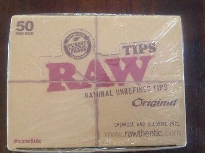Raw Tips Wide 50 Pc Full Box Factory Sealed Original