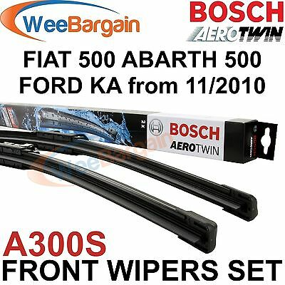 FIAT 500 FORD Ka ABARTH 500 Genuine BOSCH A300S Aerotwin Front Wiper Blades Set