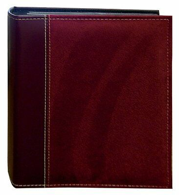 Pioneer Photo Albums 208 Pocket Sewn Faux Suede and Leatherette Cover Album #1NF