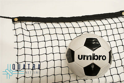 Heavy Duty Sports Barrier Netting  3m x 3m with Tie Rope & Edging