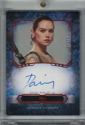 2016 Topps Star Wars Masterwork Daisy Ridley Rey Canvas Auto Autograph #d /25