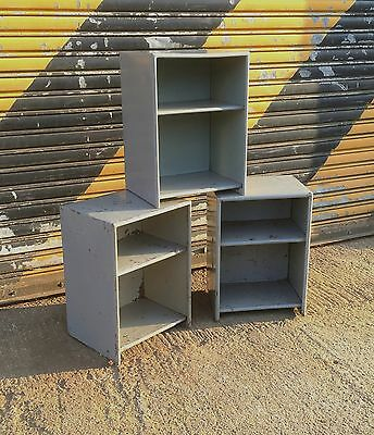 Authentic NATO bedside cabinets. Vintage Industrial metal table. Coffee table.