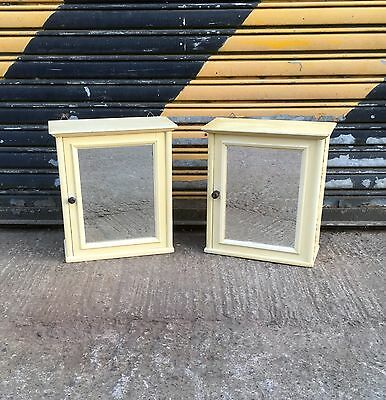 Lovely 1930's bevelled mirror bathroom cabinets. Rough Luxe. • £125.00