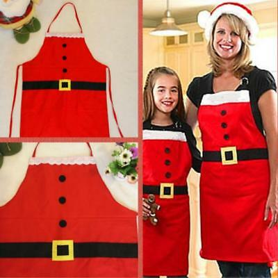 Merry Christmas Novelty Kitchen Cooking Apron Family Suits Xmas Party Fun Gift J