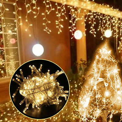 10/20/50M 100/200/500LED Bulbs Party Christmas Holiday Decor Fairy String Lights