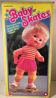 Vintage 1982 Kenner's Wind-Up Baby Skates Doll (Boxed)