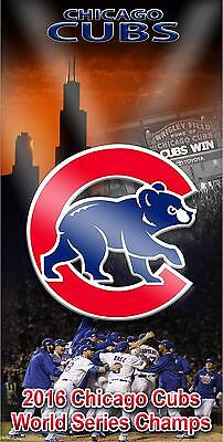 Chicago Cubs World Series 2016Cornhole Board Printed 3M Vinyl Wrap Single or Set