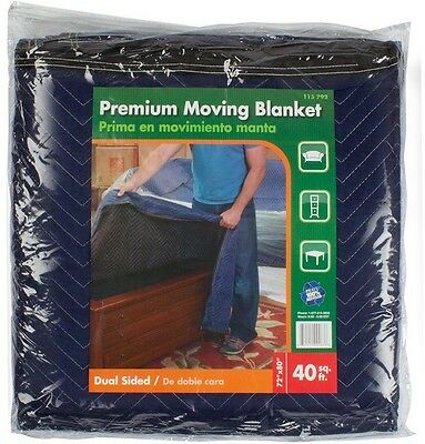 """Premium Moving Blanket Furniture Floor Protection Resusable Durable 72"""" x 80"""""""