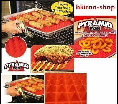 2XNon-stick Silicone Pyramid Pan Baking Mat Mould Cooking Sheet Oven Liner GT#
