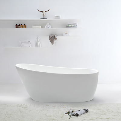 Bathroom Free Standing Bath Tub 1500x750x700 Thin Edge Freestanding REN128-1500