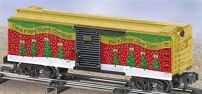 American Flyer 6-48363 Merry Christmas Boxcar 2006 Tree Green gold red S gauge