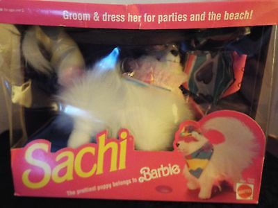 SACHI The prettiest puppy belongs to BARBIE Doll 1991 Mattel SEALED BOX