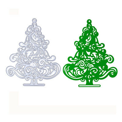Christmas Tree Cutting Dies Stencil DIY Scrapbooking Album Paper Card Craft Gift