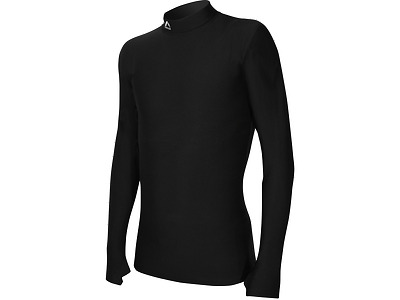 More Mile Thermal Compression Mens Running Top - Black