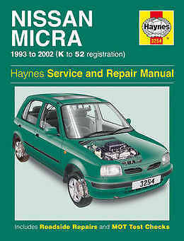 Nissan Micra Repair Manual Haynes Manual Workshop Service Manual 1993-2002 3254
