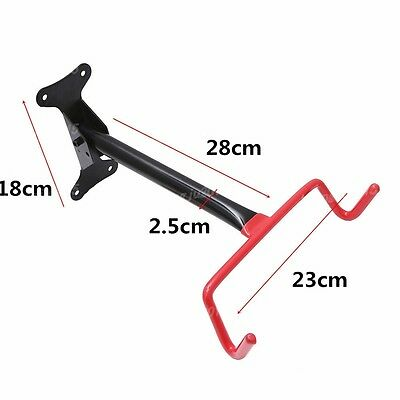 Bicycle Mounted Bike Cycle Garage Wall Storage Rack Hook Holder Red And Black Uk