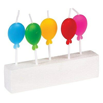 dotcomgiftshop PACK OF 5 BALLOON PARTY CANDLES