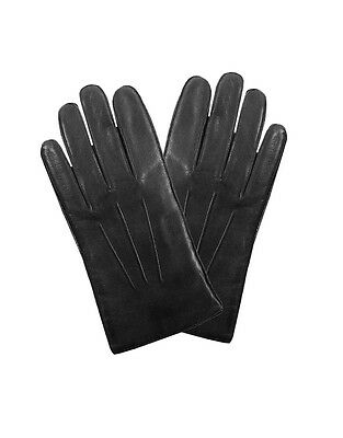 Dents Men's Hastings Fleece Lined Hairsheep Leather Gloves - Black