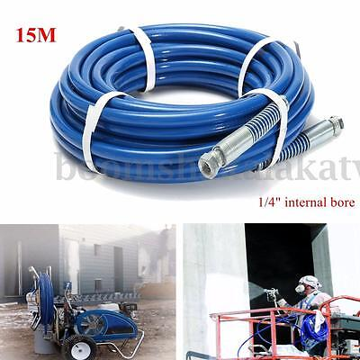 """15m 3300PSI 1/4"""" Airless Paint Spray Hose Tube Max For Wagner Titan Graco"""