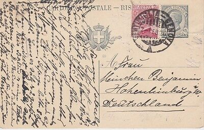 Italy-1926 Uprated 15 c grey PS Alassio cover via Railway Ambulant to Germany