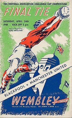 FA CUP FINAL PROGRAMME 1948 Blackpool v Manchester United