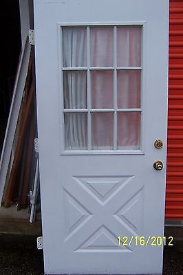 Exterior Door  Criss Cross Measures  Approx 36 X 79