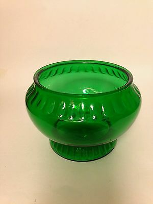Napco Green Flower Vintage Glass Vasebowlplanter Clevelando Made