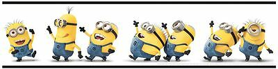 DESPICABLE ME 'MINIONS' SELF-ADHESIVE WALLPAPER BORDER NEW 15.6cm x 5m OFFICIAL