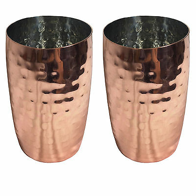 Set of 2 Retro Copper Hammered Cup for Cocktails & Drinks – Bar Gift