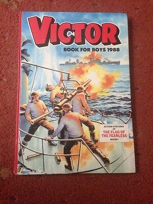 THE VICTOR BOOK FOR BOYS ANNUAL 1988 Excellent Condition