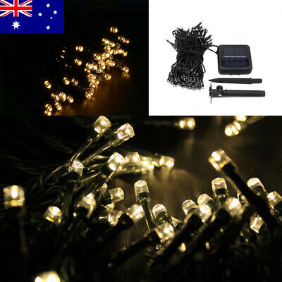 Solar Fairy String Lights 100-500 LED Garden Xmas Outdoor Decoration Warm White